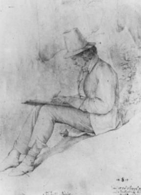 Julius Schnorr von Karolsfeld. Portrait Of Friedrich Olivier