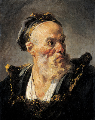 Jean Honore Fragonard. Head of and old man