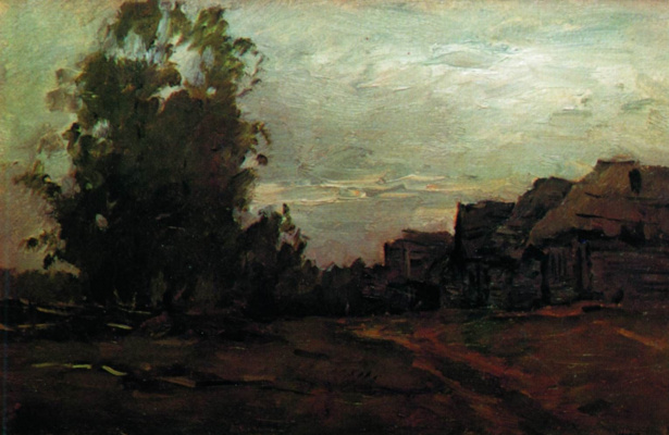 Isaac Levitan. Village. Twilight