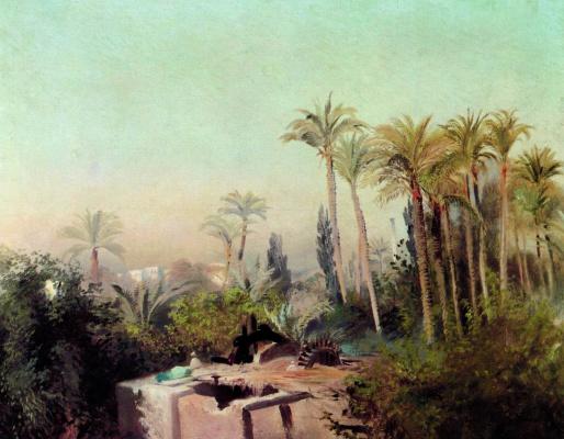 Konstantin Makovsky. Irrigation system in Egypt