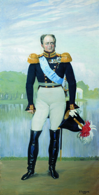 Boris Mikhailovich Kustodiev. Alexander I. Panels for the hall of officers ' life guards regiment of Finland in St. Petersburg