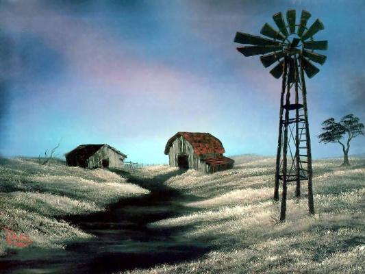 Bob Ross. Windmill