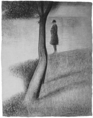 Georges Seurat. The man near the tree