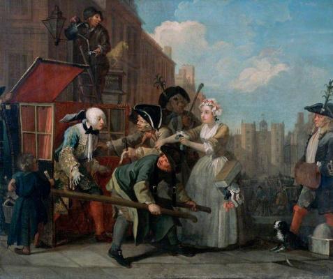 William Hogarth. Mota's career. Arrest for theft