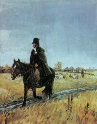 Arkady Alexandrovich Plastov. Pushkin in Boldino