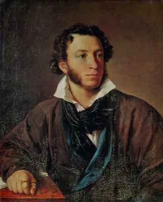 Vasily Andreevich Tropinin. Portrait Of Alexander Pushkin