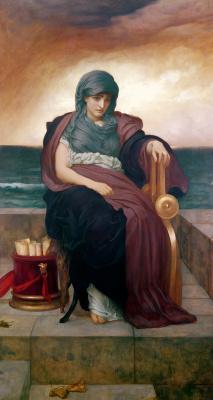 Frederic Leighton. Poetess tragedy