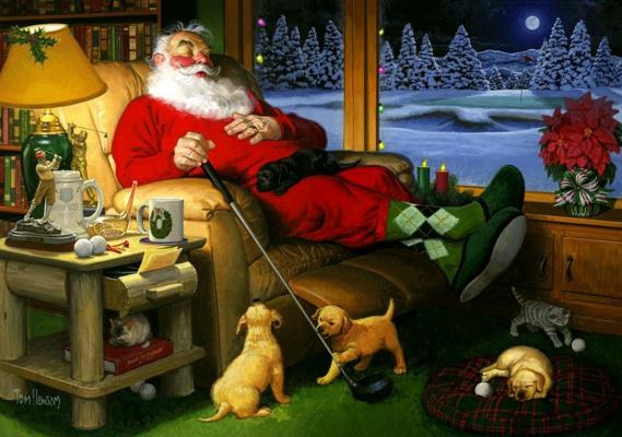 Том  Ньюсом. Клюшка для гольфа Санта Клауса