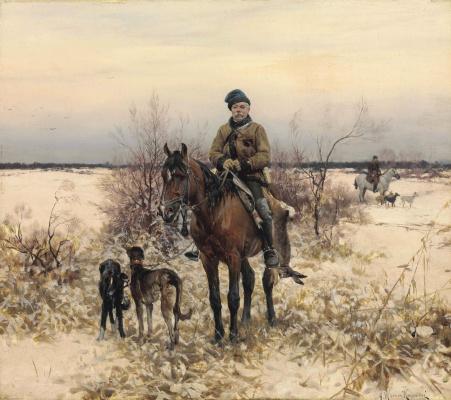 Альфред Ян Максимилиан Веруш-Ковальский. Охота с гончими.