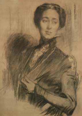 Portrait of L. A. Nedobrovo, born Olkhina. 1903