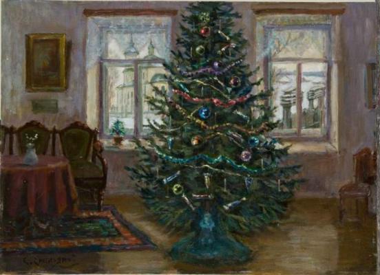 Сергей Анатольевич Емельянов. Christmas tree in Darovsky