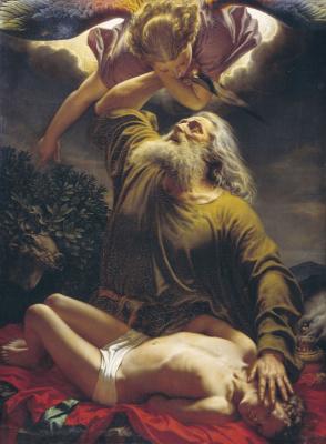 Evgraf (Gerard) Romanovich Reitern. Abraham sacrifices Isaac.