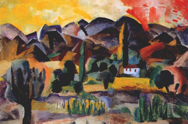 Роберт Рафаилович Фальк. Пейзаж в горах