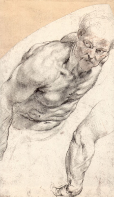Peter Paul Rubens. Sketch of Nude model