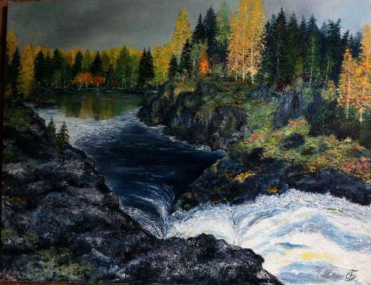 Galina Nikolaevna Silina. Waterfall,Kivach,,
