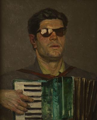 Heliy Mikhailovich Korzhev. Blind musician (sketch)