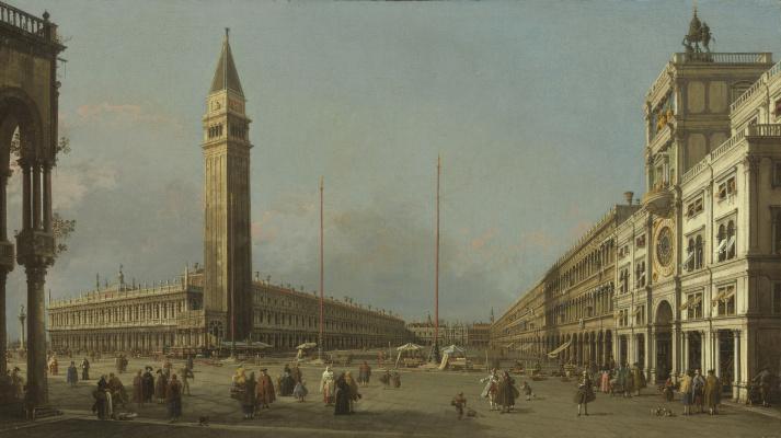 Джованни Антонио Каналь (Каналетто). Площадь Сан-Марко смотрит на юг и Запад