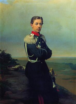 Sergey Konstantinovich Zaryanka. Portrait of the Grand Duke's heir Tsarevich Nikolai Aleksandrovich