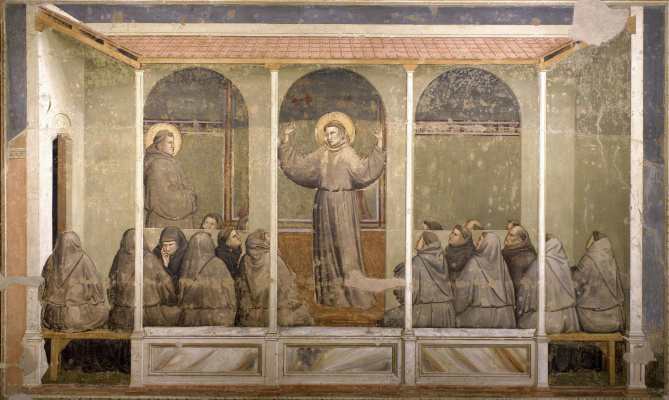 Giotto di Bondone. The phenomenon of Arles. Scenes from the life of St. Francis