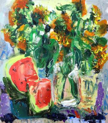 Ilya Pavlovich Spichenkov. Sunflowers. Day