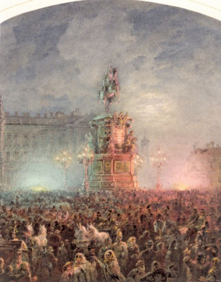 Opening of the monument to Nicholas I in St. Petersburg