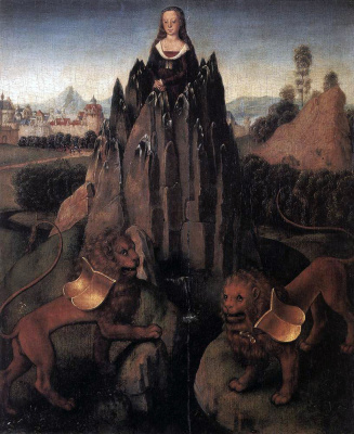 Ганс Мемлинг. Мадонна со львами