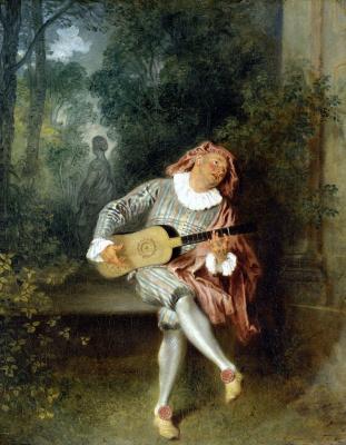 Antoine Watteau. Mezzetin
