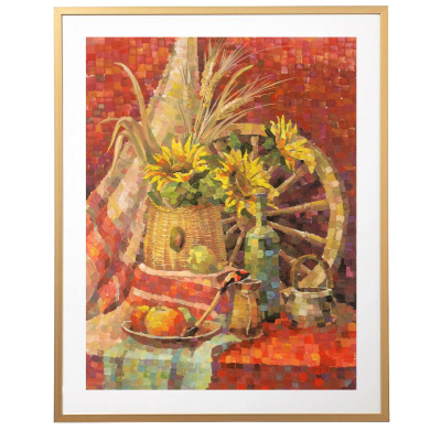Elena Lobanova. Still Life with Sunflowers