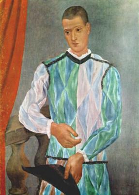 Pablo Picasso. Harlequin