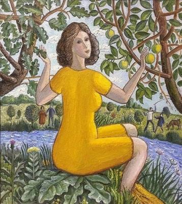 Владимир Петрович Чернов. Yellow apples