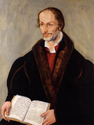 Lucas the Younger Cranach. Portrait of Philip Melanchthon. Shtedelevsky Museum, Frankfurt am Main.