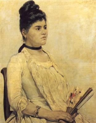 Giovanni Fattori. A portrait of his daughter Florence