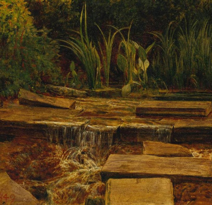William Holman Hunt. Haunted manor. Fragment