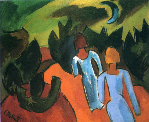 Karl Schmidt-Rottluff. Walk under the moon