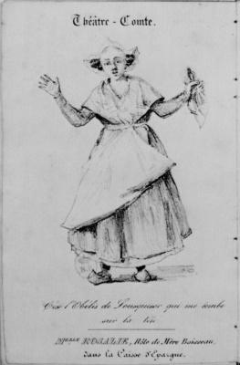 Camille Corot. Madame Rosalie as Matushka Boisso