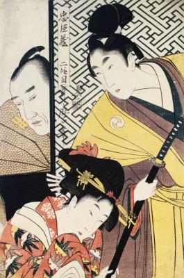 Kitagawa Utamaro. Young samurai Rikiya