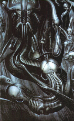 Hans Rudolph Giger. Unexplained Anima (fragment)