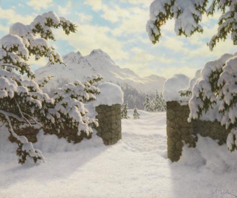 Иван Федорович Шультце. Зимнее солнце в Швейцарии