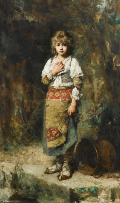 Алексей Алексеевич Харламов Россия 1840 - 1923. Крестьянская девочка.