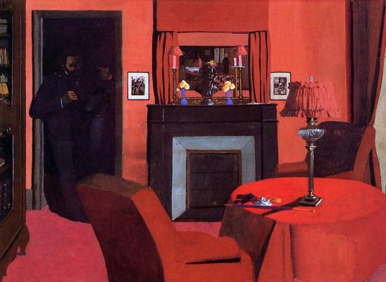 Felix Vallotton. Red interior