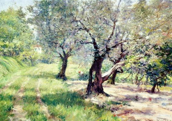 William Merritt Chase. Olive grove