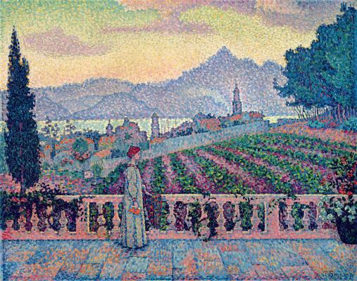 Paul Signac. The woman on the terrace