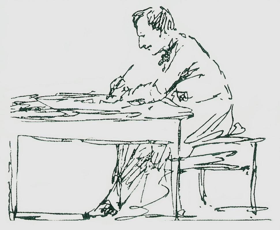 Иван Константинович Айвазовский. Автопортрет. За письменным столом