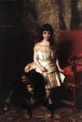 Konstantin Makovsky. Portrait of Pyotr Alexandrovich Polovtsev child