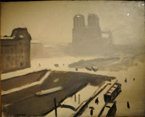 Albert Marquet. In winter, Notre Dame (Notre Dame. Snow. Winter.).
