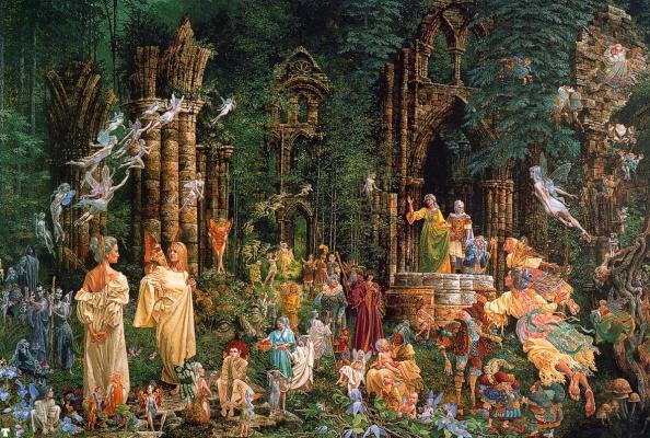 James Christensen. Court of the fairies