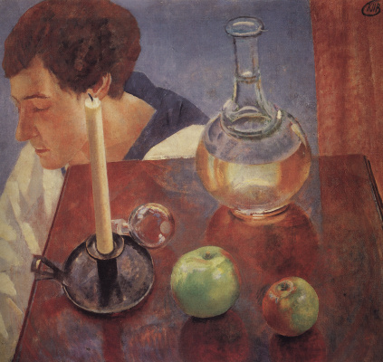 Kuzma Sergeevich Petrov-Vodkin. Candle and a decanter