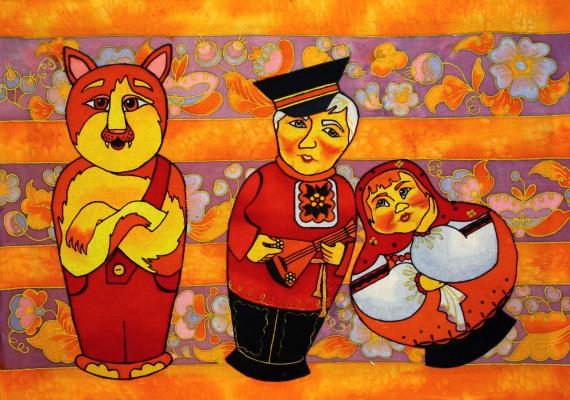 Violetta Valerievna Mitina. Funny nesting dolls