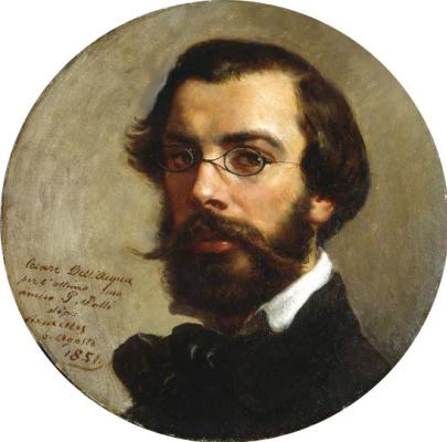 Cesare Dell'Aqua. Self-portrait