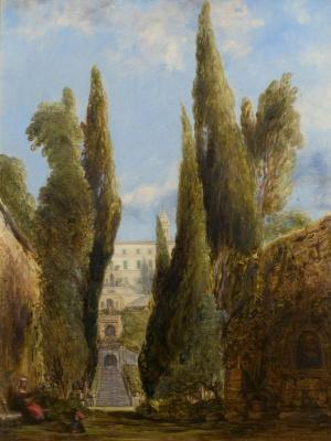 Эдвард Лир. Villa d'Este, Tivoli